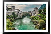 "Stari Most ""Old Bridge"" Mostar, Framed Mounted Print"