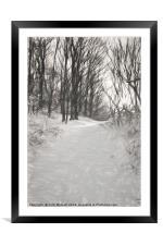Snowy Walk, Framed Mounted Print