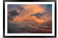 Red Sky at Night....., Framed Mounted Print