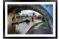 Beyond The Bridge, Framed Mounted Print