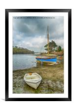Boats On The Beach, Framed Mounted Print