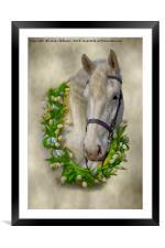 Horse 1, Framed Mounted Print