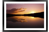 The End of The Day, Framed Mounted Print