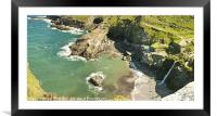 Don't Look Down, Framed Mounted Print