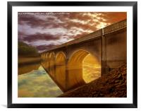 Gods lights, Framed Mounted Print