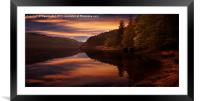 Peaceful, Framed Mounted Print