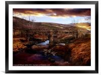 Packhorse Bridge, Framed Mounted Print