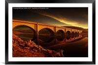 Ashopton Sun Rise, Framed Mounted Print