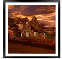 Evening Glow, Framed Mounted Print