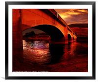 Yorkshire Bridge Sun Rise, Framed Mounted Print