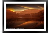 Howden Sun Down, Framed Mounted Print