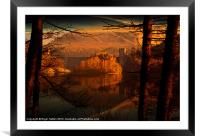 Behind The Trees, Framed Mounted Print