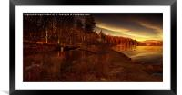 Winters Glow, Framed Mounted Print