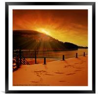 Howden Sun Burst, Framed Mounted Print
