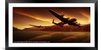 Lancasters in the Silent Valley, Framed Mounted Print