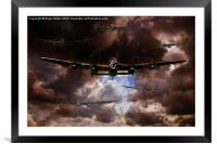There's A Storm Coming, Framed Mounted Print