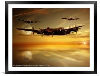Over The Sea, Framed Mounted Print