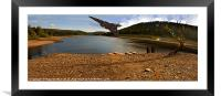 Vulcan Over Derwent Reservoir, Framed Mounted Print