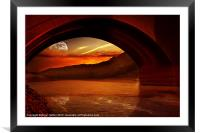 Under the Bridge, Framed Mounted Print