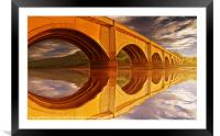 The Golden Viaduct, Framed Mounted Print