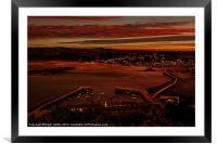 Sun Down at Marazion, Framed Mounted Print