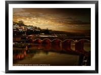 Victorian Bridge, Framed Mounted Print