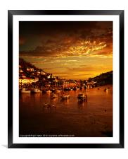 Looe at Sunset, Framed Mounted Print
