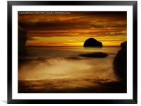 Trebarwith Strand at Sunset, Framed Mounted Print