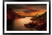 Polperro Bay, Framed Mounted Print