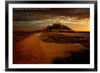 St Michaels Mount, Framed Mounted Print