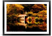 Trevrano Boat House, Framed Mounted Print