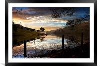 Derwent Village Reflections, Framed Mounted Print