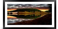 Derwent Edge Reflections, Framed Mounted Print