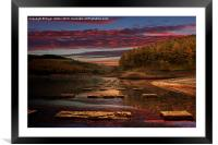 Ouzelden Sunset, Framed Mounted Print