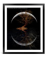 Rising Moon, Framed Mounted Print