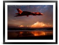 Vulcan at Sunset, Framed Mounted Print