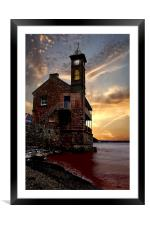 The Clock Tower, Framed Mounted Print