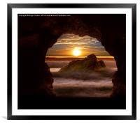 Cave Glow, Framed Mounted Print