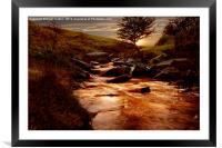 Ladybower Brook, Framed Mounted Print