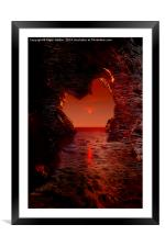 Cave Reflections, Framed Mounted Print