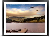 Two Over Ladybower, Framed Mounted Print
