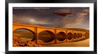 Vulcan Over Ashopton, Framed Mounted Print