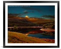 Bamford Edge Reflections , Framed Mounted Print