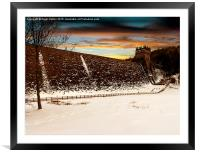 Snow at Derwent Dam, Framed Mounted Print