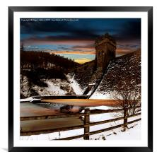 Frozen River , Framed Mounted Print