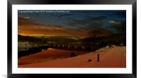 Valley Dawn, Framed Mounted Print