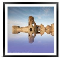 English Castle, Framed Mounted Print