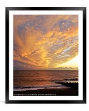 Fiery skies, Framed Mounted Print