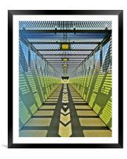 Pedestrian bridge, Framed Mounted Print
