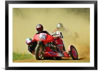 Right hand sidecar, Framed Mounted Print